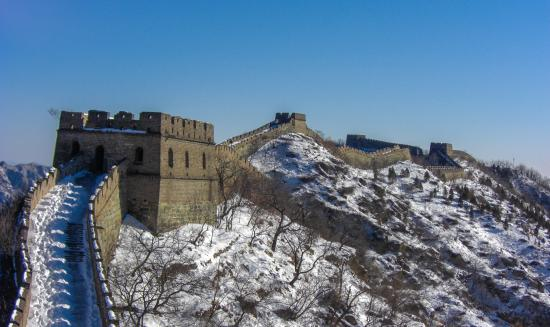 Brickyard Retreat at Mutianyu Great Wall: Great Wall Snow