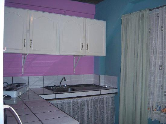 Cabinas Doña Alicia : la cocina de una de las habitaciones.