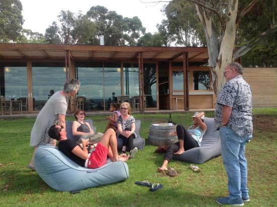 Moorooduc, Australia: Using the bean bags