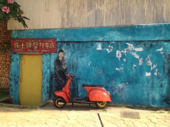 Kuala Terengganu, Malaysia: art on the wall