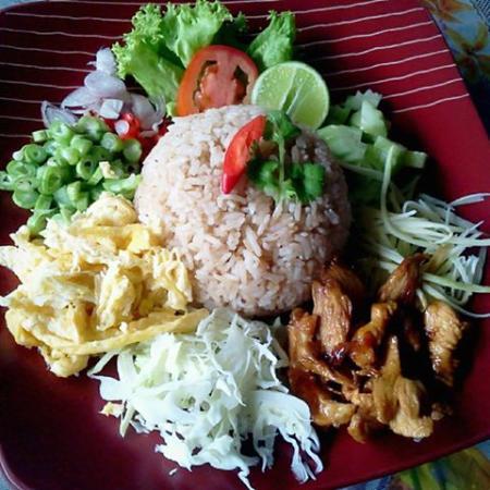 Pak Nam, Tailandia: ข้าวคลุกกะปิ