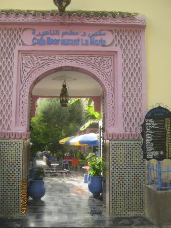 Cafe de la Noria: 入り口の様子です。