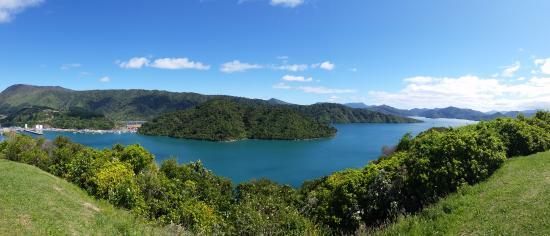 Picton, Nueva Zelanda: View from the Harbour View car park