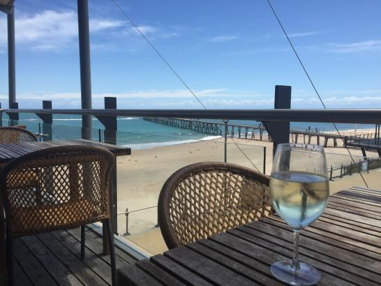 Port Noarlunga, Australien: on the deck after lunch