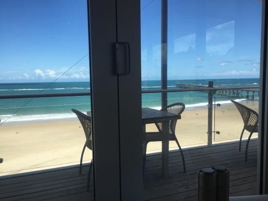 View from the table over the jetty at Port Noarlunga