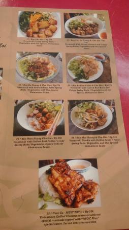 Menu My Pho Vietnamese Restaurant Foodhall Grand Indonesia Picture Of My Pho Jakarta Tripadvisor