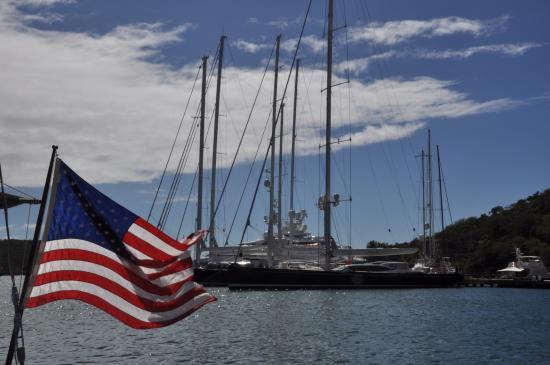 English Harbour, Antigua: Barche nel molo