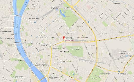Baross City Hotel: Map
