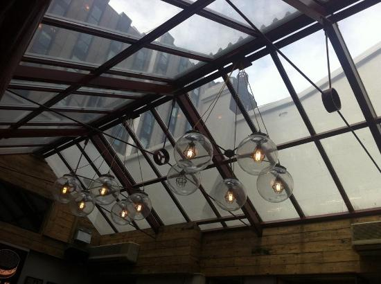 Greater London, UK: Cool lighting in the conservatory