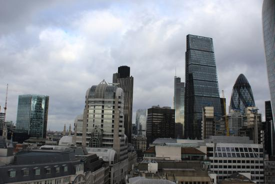 The Monument to the Great Fire of London: skyscrapers from the Monument