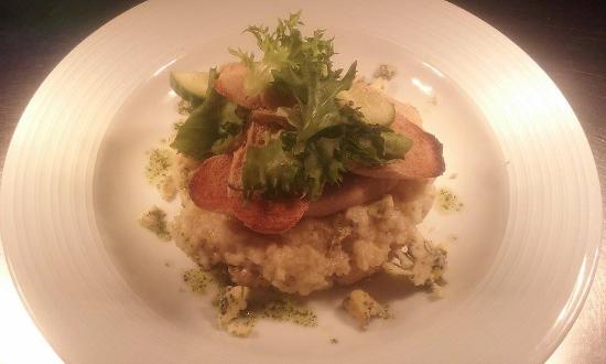 Dunster, UK: Wild Mushroom and Exmoor Blue Cheese Risotto
