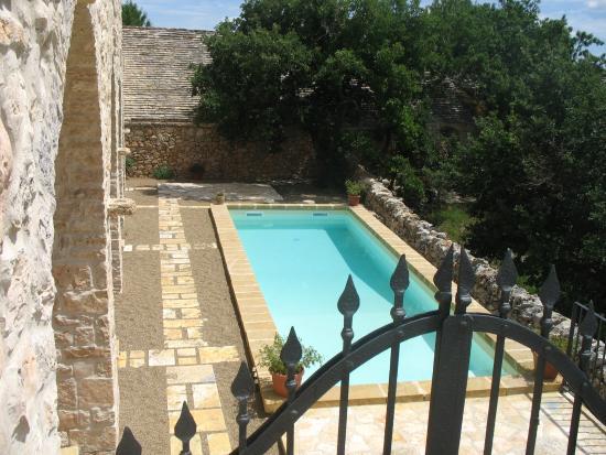 Toritto, İtalya: La corte con la piscina