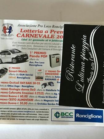 Biglietto del carnevale di Ronciglione che mi è stato regalato !!