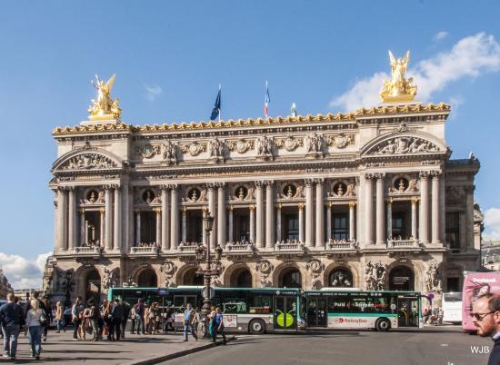 fa ade of the palais garnier opera house place de l 39 op ra paris picture of hotel scribe. Black Bedroom Furniture Sets. Home Design Ideas