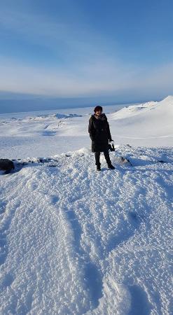 Hvolsvollur, Islandia: On the caldera near the top of the Eyjafljallajokull volcano.