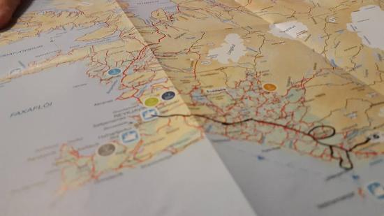 Hvolsvollur, Islandia: Map of our adventure.