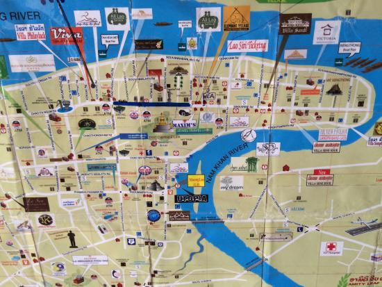 Hoxieng Guesthouse 1: Map of Luang Prabang