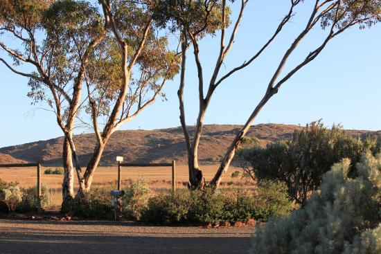 The Range from the caravan park.