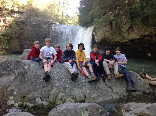 Boy Scout Troop 11 at Savage Falls