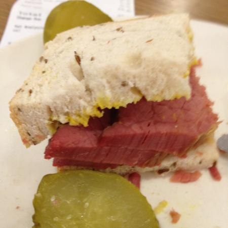 The Brass Rail At Selfridges A Quarter Of My Salt Beef Sandwich In Rye Bread