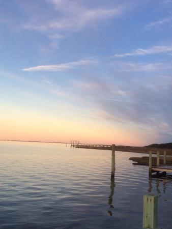 The Inn on Pamlico Sound: View across the Sound from the deck