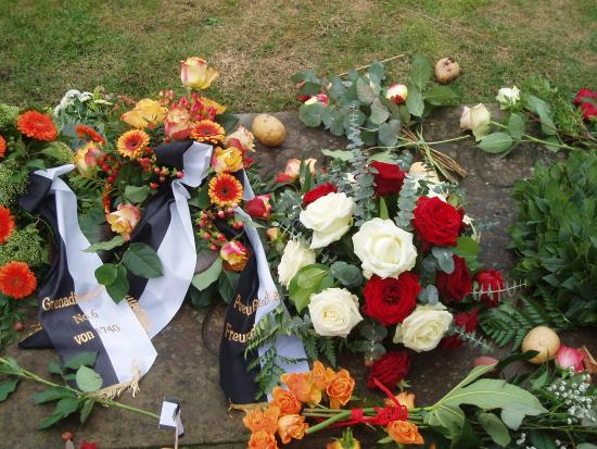 Sanssouci Palace: the simple grave of Frederick the Great