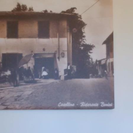 Pratolino, Italia: Foto della vecchia foto del ristorante (particolare)