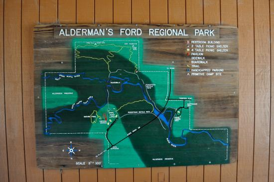 Great Wooden Map Picture Of Aldermans Ford Park Lithia Tripadvisor