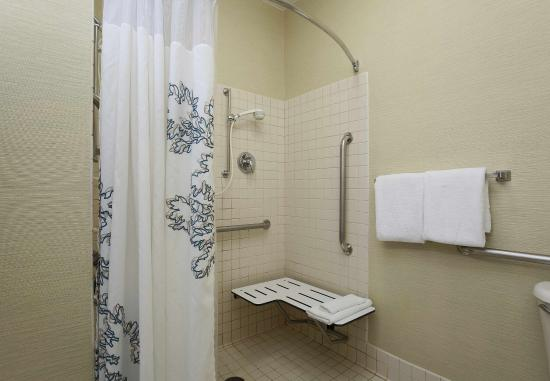 Fort Smith, AR: Accessible Guest Bathroom Roll-in Shower