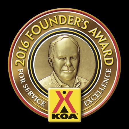 Canaan, ME: We have earned both the President and Founders Awards for 2016 from KOA
