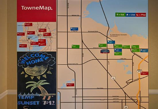 TownePlace Suites St. Petersburg Clearwater: TowneMap