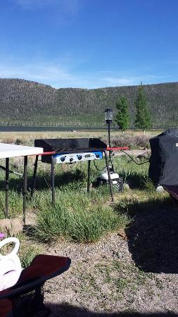 Fish Lake Resorts : where I had set up my camp kitchen