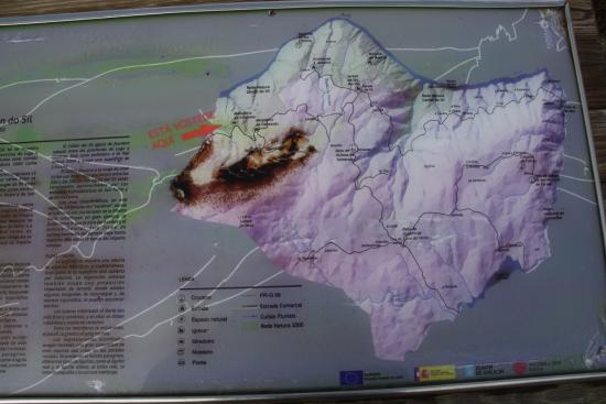 Ourense Province, Spanje: Mapa de los Miradores