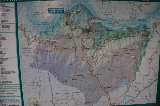 Ourense Province, Spanje: Mapa de cercanías de Parada Do Sil