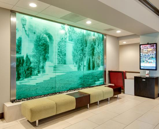 Vernon Hills, Илинойс: Hotel Lobby- Soothing Water Fall