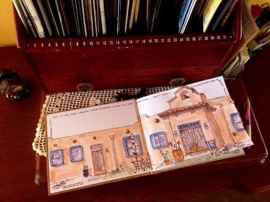 Saint David, AZ: Angelique from Calgary, a fellow guest, Artified the guest book