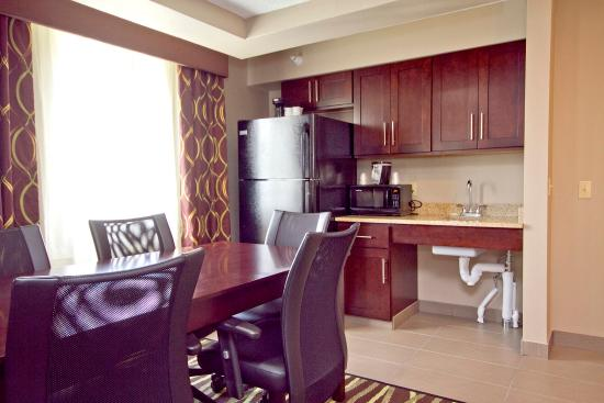 Adrian, MI: Executive Suite Board Table & Wet Bar