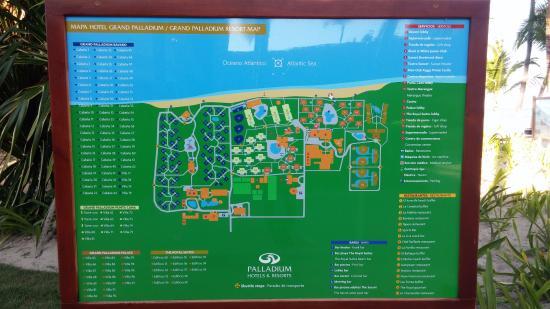 Mapa Del Complejo Hotelero Picture Of Grand Palladium Bavaro