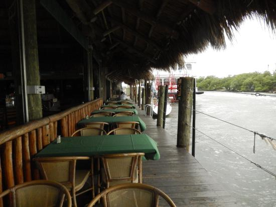 view of intracoastal from deck picture of joe s tiki bar grill and rh tripadvisor com