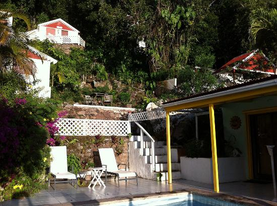 Windwardside, Isla de Saba: overview