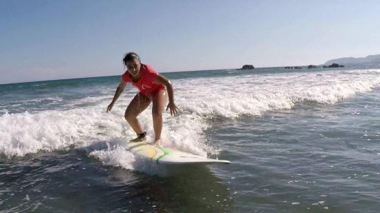 Montezuma, Kosta Rika: first time surfing!