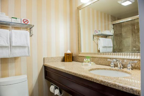 Longueuil, Canada: Executive Room bathroom with glass shower