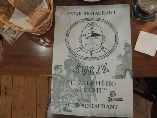 Svejk Restaurant U zeleneho stromu: Menù