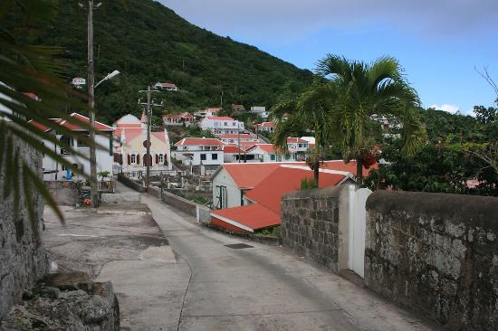 Windwardside, Saba: impression of the village