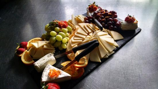 North Adams, MA: cheese and fruit  platter for gallery 51