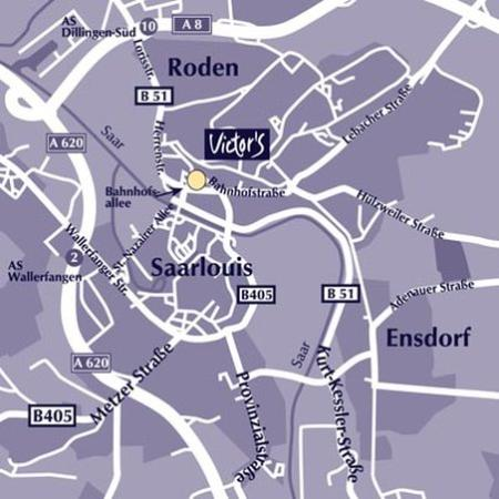 SaarLouis, Germany: Map