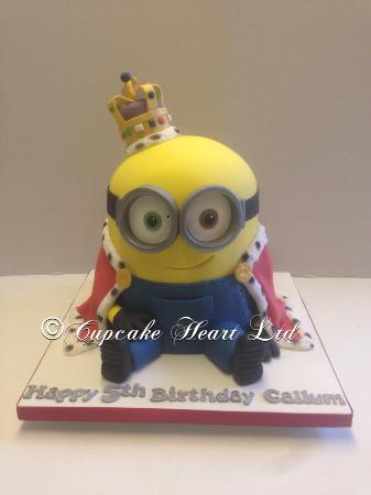 Minion King Bob cake Picture of Cupcake Heart Cafe Larkfield