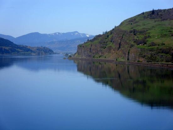 Near Rowena in the Columbia River Gorge on a beautiful sunny day.