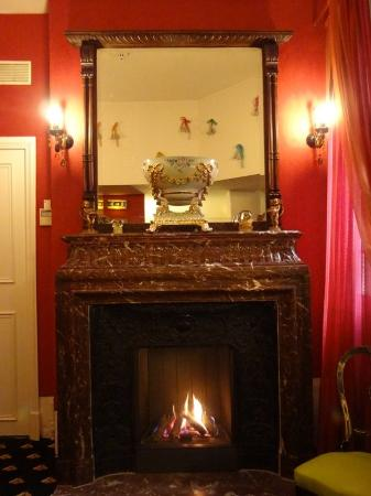 Fireplace in hotel de Latour Maubourg