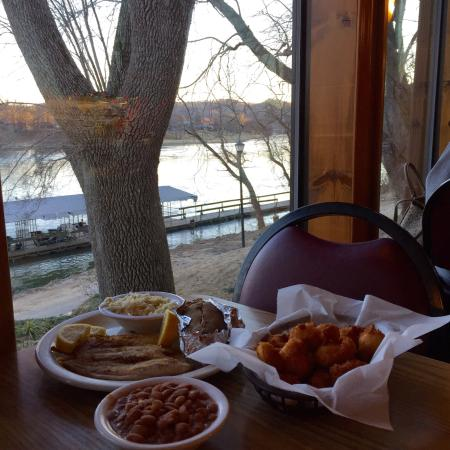 Jojo's Catfish Wharf: Since 1995 great catfish grilled or fried with hushpuppies to match.  Our favorite and right on